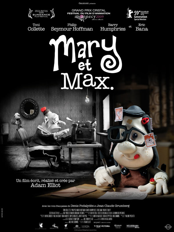 Mary And Max Review Trailer Teaser Poster Dvd Blu Ray Download Streaming Torrent Megaupload Subtitles Cinemagora
