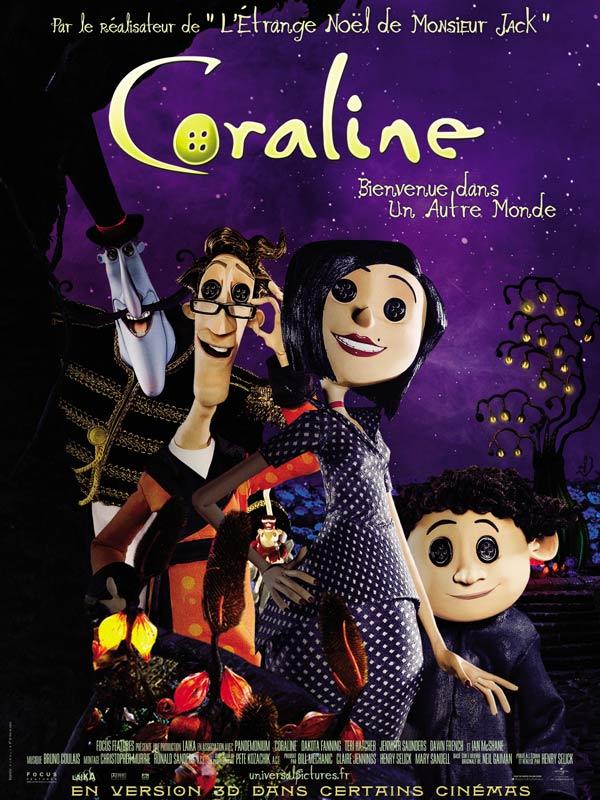 Coraline Review Trailer Teaser Poster Dvd Blu Ray Download Streaming Torrent Megaupload Subtitles Cinemagora