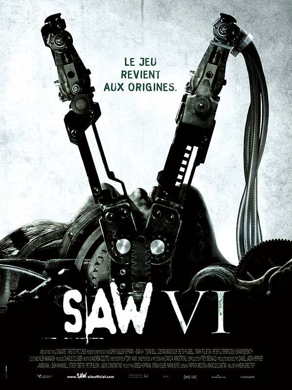 Saw 6 : Review, Trailer, Teaser, Poster, DVD, Blu-ray ...